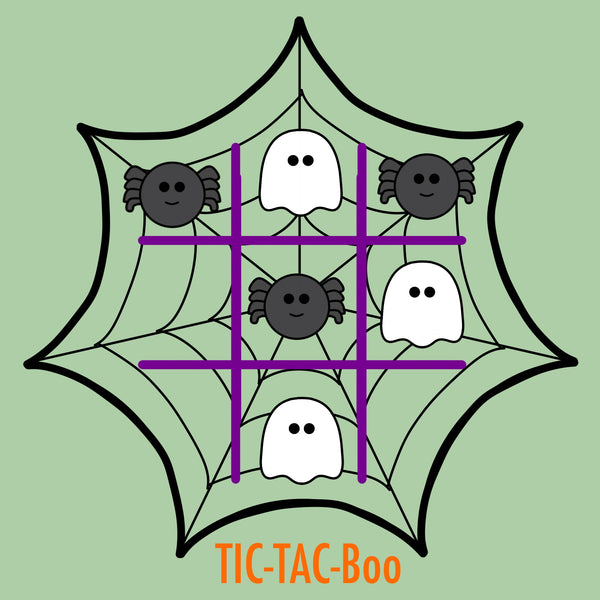 Tic Tac Boo Cookie Cutter Set - Spider Web - Ghost - Periwinkles Cutters LLC