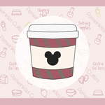 Mickey cut out Coffee Cup Cookie Cutter