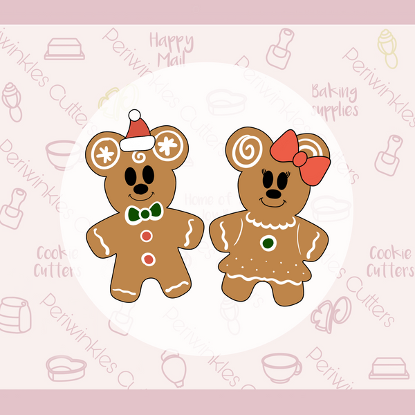 Mickey and Minnie Gingerbread Cookies 2020