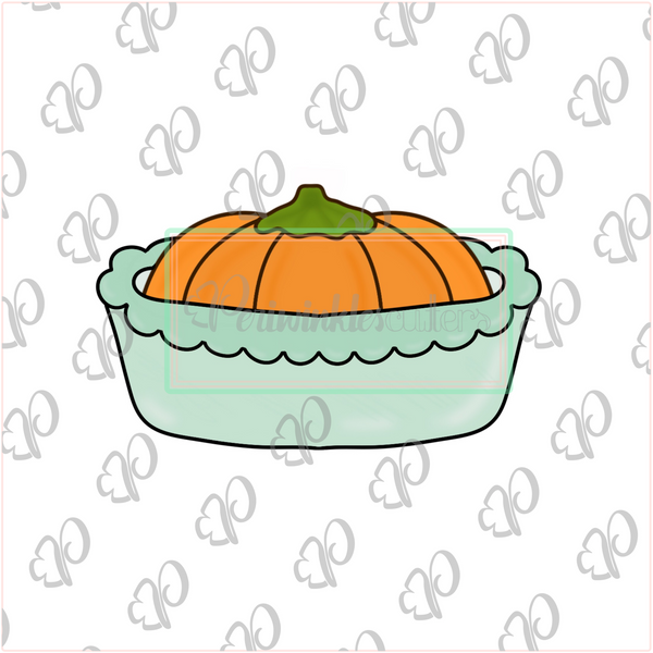 Pumpkin Casserole Cookie Cutter - Fall Food