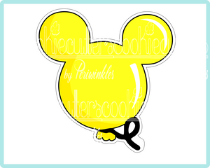 Minnie and Mickey Mouse Balloons Cookie Cutter - Periwinkles Cutters LLC