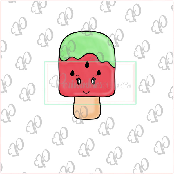 Watermelon Popsicle Cookie Cutter - Summer Cookie Cutter - Periwinkles Cutters LLC