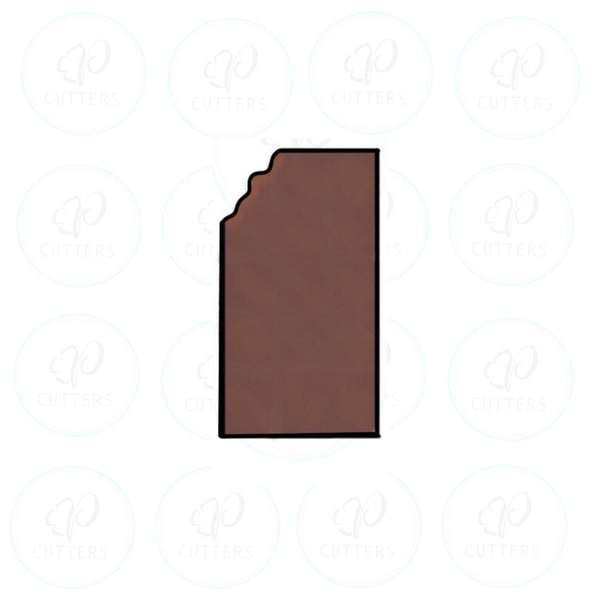 Chocolate Bar - Tall Cookie Cutter - Periwinkles Cutters LLC