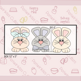 Big Ears Bunnies Trio 3 Pieces Set Cookie Cutter