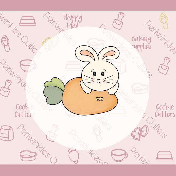 Bunny Lying on Carrot Cookie Cutter
