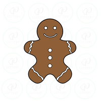 Traditional Gingerbread man - Periwinkles Cutters LLC