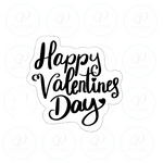 Happy Valentines Day '20 Cookie Cutter - Periwinkles Cutters LLC