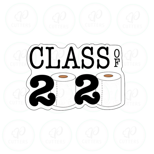 Class of 2020 Plaque Cookie Cutter - Periwinkles Cutters LLC