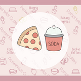Pizza and Soda 2021 Cookie Cutter - We Go Together Like