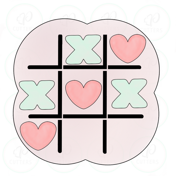 X O Tic Tac Toe Cookie Cutter - Periwinkles Cutters LLC