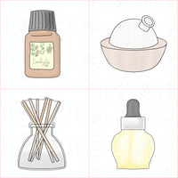 Essential Oils Set Cookie Cutter - Periwinkles Cutters LLC