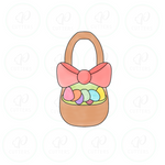 Easter Basket - Tall Cookie Cutter - Periwinkles Cutters LLC