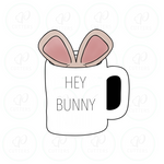 Bunny Mug Cookie Cutter - Periwinkles Cutters LLC