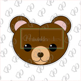Valentines Bear heads Cookie Cutter - Periwinkles Cutters LLC