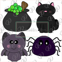 Potion Ingredients Mini Set Halloween Cookie Cutter - Halloween Cutter - Periwinkles Cutters LLC