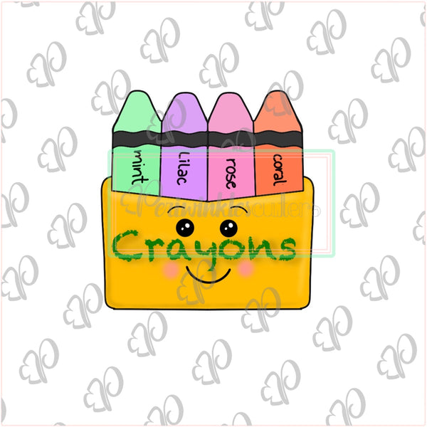 Crayon Box Cookie Cutter - Periwinkles Cutters LLC