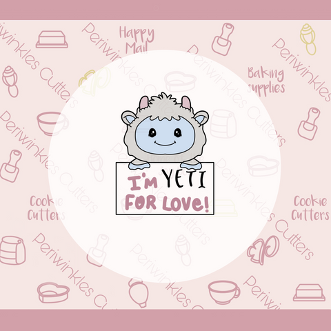 Yeti for Love Plaque