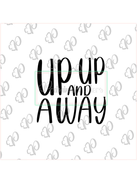 Up Up and Away Plaque Cookie Cutter - Baby Shower Theme