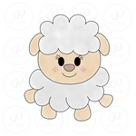 Happy Sheep Cookie Cutter - Periwinkles Cutters LLC