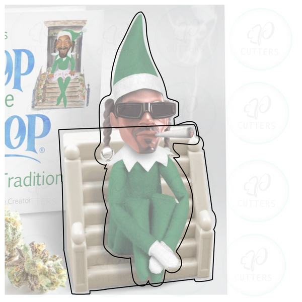 Snoop on the Stoop 2 pieces Cookie Cutter
