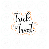 Trick or Treat Plaque Cookie Cutter