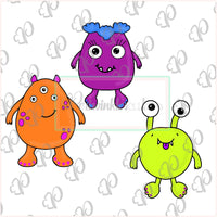 Cute Monster Cookie Cutter - Periwinkles Cutters LLC