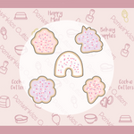 Frosted Valentine Magical Mini Cookie Cutters Set 5 Pieces