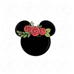 Minnie Floral Head Cookie Cutter - Periwinkles Cutters LLC