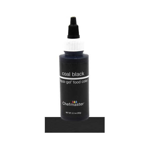 Coal Black Gel Food Color 2.3oz - Periwinkles Cutters LLC