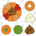 Pumpkin Pie Platter - Turkey Platter - Pumpkin Platter - Fall - Thanksgiving Cookie Cutter
