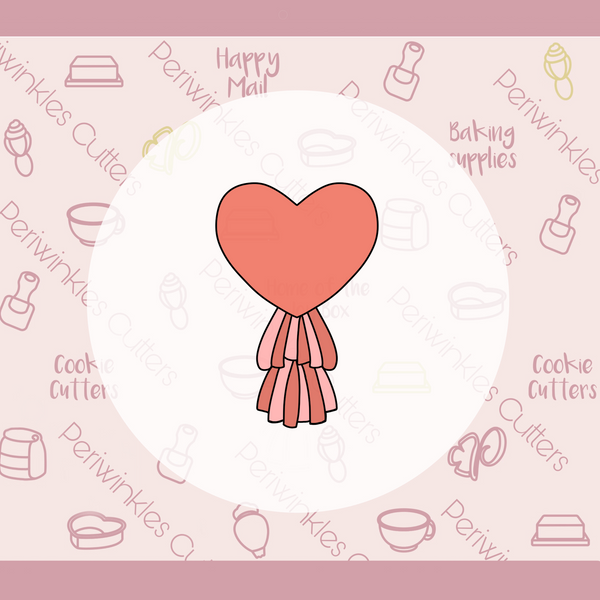 Mylar Heart Balloon Tassel Cookie Cutter
