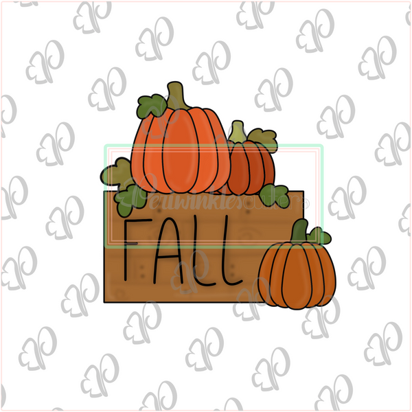 Fall Patch Plaque Cookie Cutter - Periwinkles Cutters LLC