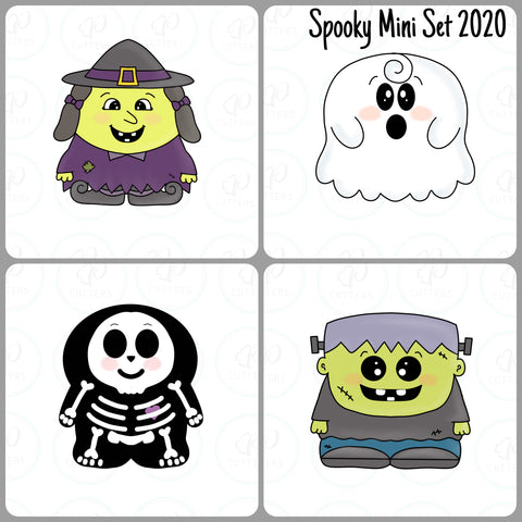 Spooky Pals Mini Set Cookie Cutter - Periwinkles Cookie Cutters