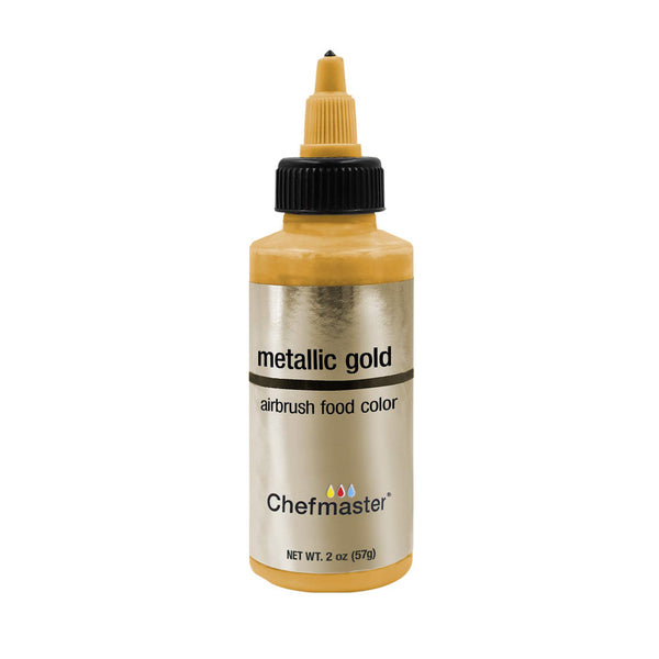 Metallic Gold Airbrush Food Color 2oz - Periwinkles Cutters LLC