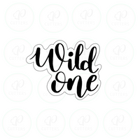 Wild One Plaque Cookie Cutter - First Birthday - Periwinkles Cutters LLC