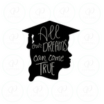 Graduate Silhouette Girl Cookie Cutter - Periwinkles Cutters LLC