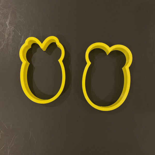 Minnie and Mickey Easter Eggs Cookie Cutter - Periwinkles Cutters LLC