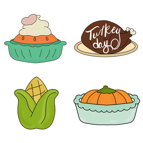 Thanksgiving Night Mini Set - Fall Cookie Cutters