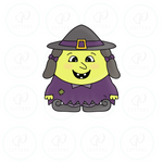 Chubby Witch Cookie Cutter
