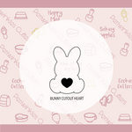 Sitting Bunny Cut Out Tail Cookie Cutter