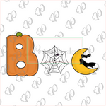 Boo Individual Cookie Cutter Set - Periwinkles Cutters LLC