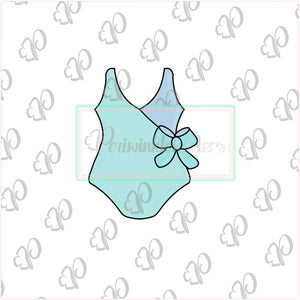 Women Swimsuit with Bow Cookie Cutter - Swimsuit - Swim - Summer Cookie Cutter - Periwinkles Cutters LLC