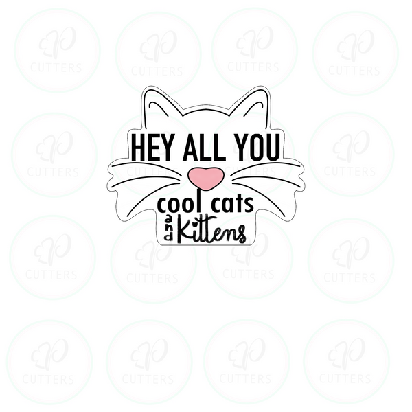 Tiger King Inspired Cookie Cutter - Hey cool cats and kittens Plaque Cookie Cutter