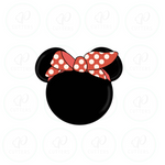 Minnie Bandana Head Cookie Cutter - Periwinkles Cutters LLC