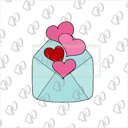 Heart Envelope Cookie Cutter - Periwinkles Cutters LLC