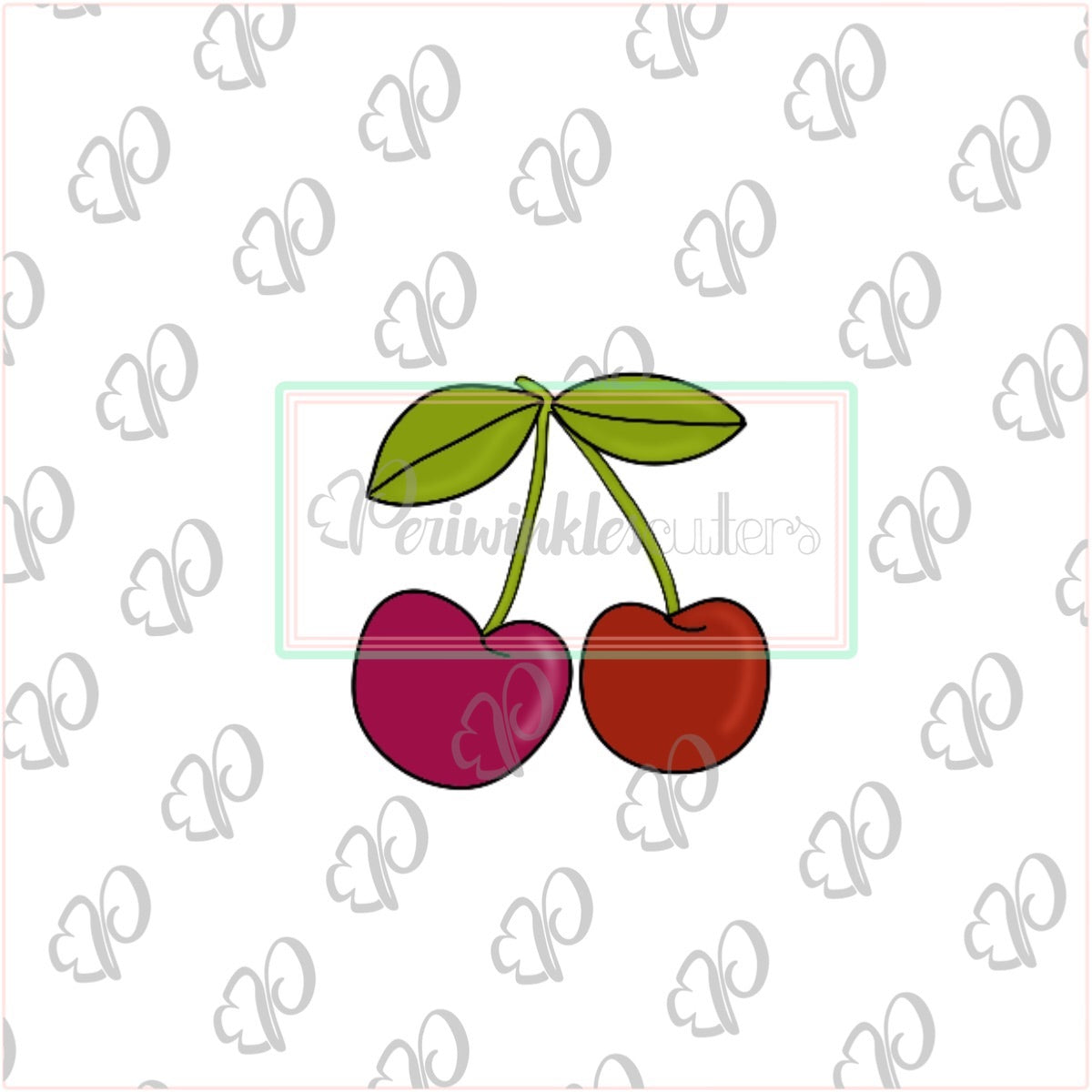 Cherry Cookie Cutter -  Cherries Cookie Cutter - Summer Cookie Cutter - Fruits Cookie Cutter - Periwinkles Cutters LLC