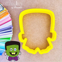 Franke Cookie Cutter - Frankenstein Cookie Cutter - Halloween Cookie Cutter - Periwinkles Cutters LLC