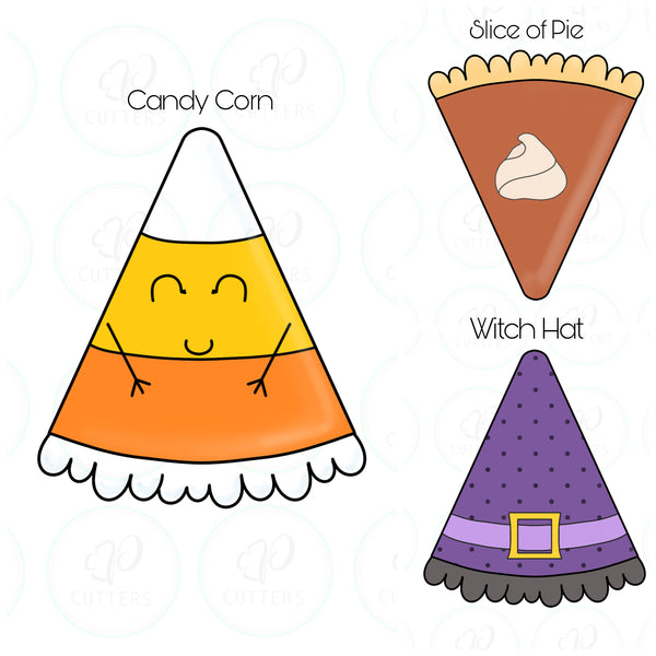 Slice of Pie - Candy Corn Cookie Cutter