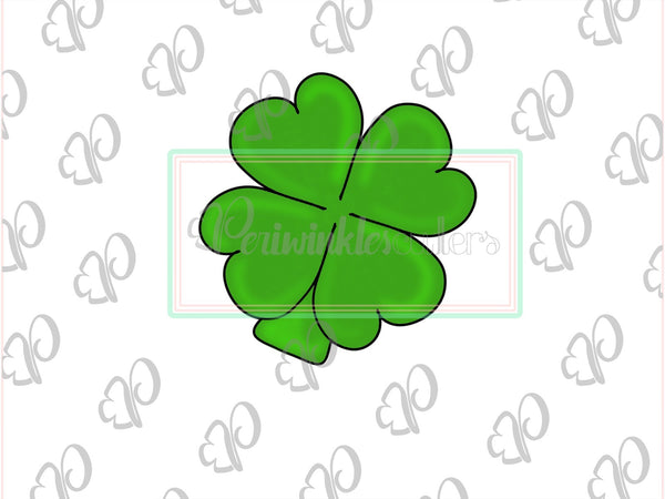 Clover Heart 4 Leaf Cookie Cutter - Shamrock - St Patricks - Periwinkles Cutters LLC