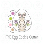 PYO Egg Cookie Cutter - Easter Cookie Cutter - Periwinkles Cutters LLC